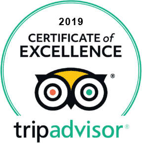 2019 Certificate of Excellence tripadvisor