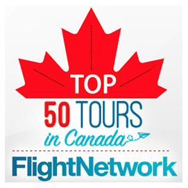 flight network top 50 tours in Canada winner 2016 footer
