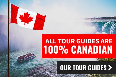 All Tour Guides are 100% Canadian