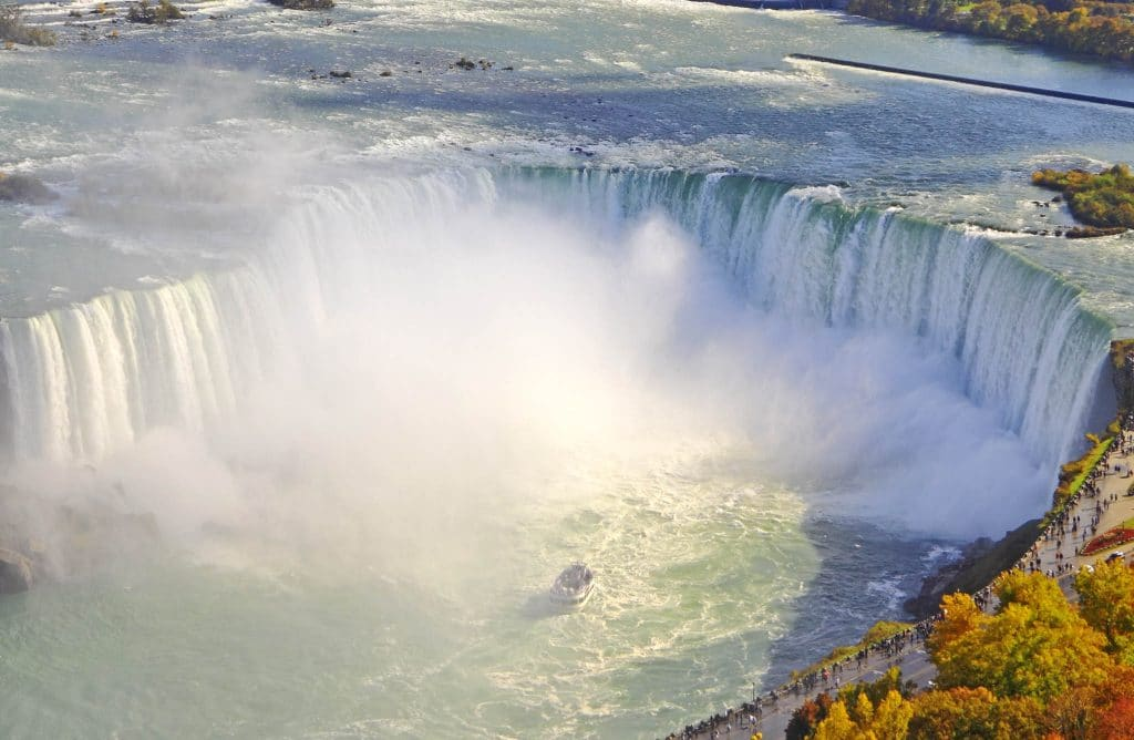 Niagara Falls scenic aerial view in autumn Zoom In