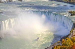 Niagara Falls scenic aerial view in autumn Zoom In