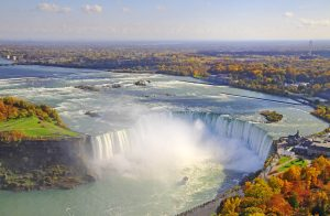 Niagara Falls scenic aerial view in autumn