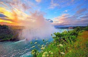 Niagara Falls in early morning sunrise
